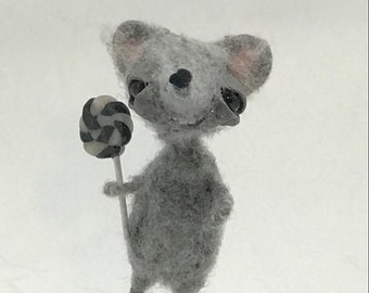 George the grey rat  original one of a kind art doll