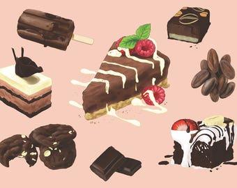 Chocolate Indulgence A4 Art Print