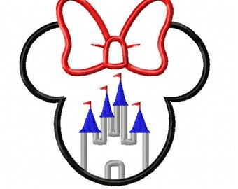Miss Mouse Castle Applique