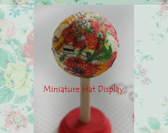 Miniature Hat Display stand. Scale 6