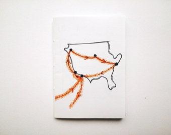 Travel zine: AMERICA // poetry / prose // handmade zine / handwritten zine // journal excerpts