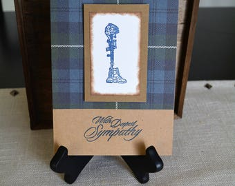 With Sympathy, Fallen Soldier, Condolences, With Deepest Sympathy, Blank Sympathy, Homemade cards