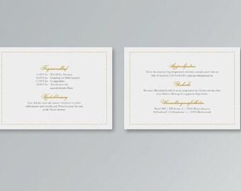 Info map/inserts for wedding invitation printables | Belvedere | PDF