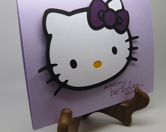 Cute kitty birthday greeting card