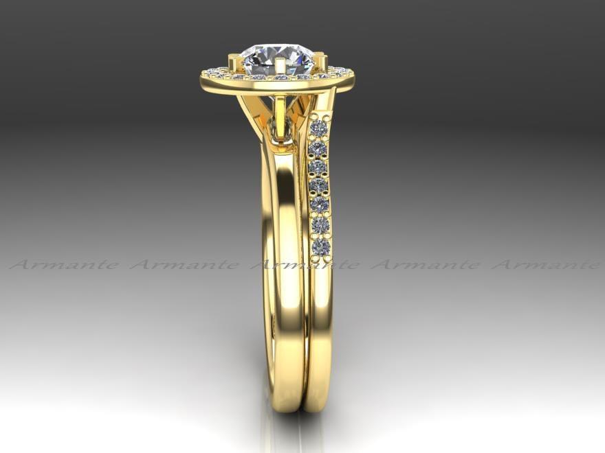 Enhancer Ring Guard Halo Engagement Enhancer Matching Wedding Band