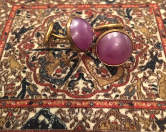 Vintage cufflinks with lavender stone