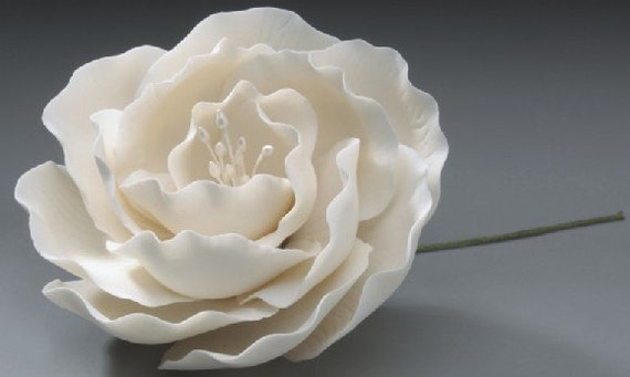 3 briar rose gum paste flowers for weddings and cake like this item junglespirit Image collections