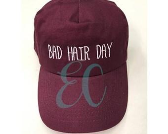 Bad Hair Day Baseball Cap, Womens Clothing, Friendship