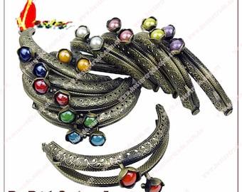 10pcs  10 color 8.5cm new clutch purse frame  ,purse frame,coin purse clip clasp with pattern ,KS-45