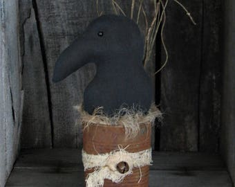 Crow in Rusty Can