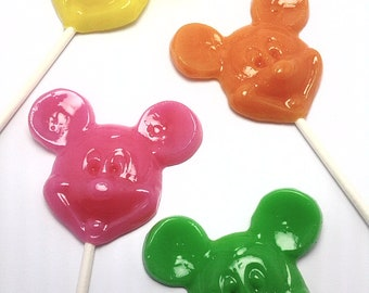 12  OPAQUE MALE MOUSE Lollipops- Hard Candy