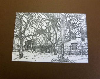 Village TC210 sold unmounted rubber stamp