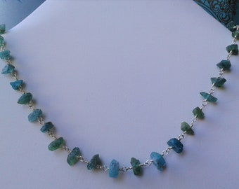 Apatite sterling silver necklace