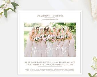Photography Marketing Template, Photography Ad Template Photoshop, Photography Flyer Template, Photography Branding Organic Set