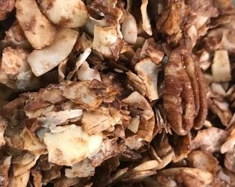 Chocolate Macadamia Pecan Keto Friendly Granola, Grain-Free, Sugar-Free, Low-Carb One Pound