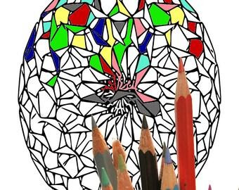 Mandala 006, coloring page