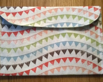 Green and Flag Cotton Envelope Pouch