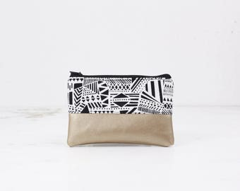 Mini bag - pattern mix, bag, cosmetic bag, purse, make-up bag, vegan, minimalist, pouch, pencil case,.