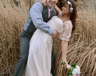 Boho Chic Wedding Shrug For Bride With 4-Options: Shawl, Shrug, Twist And Scarf .Boho Wedding Shrug, Bridal Cover Up, bridal Lace Bolero