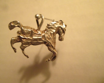 Vintage Sterling Galloping Horse