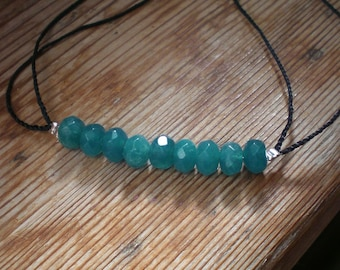 Neon Apatite bracelet, adjustable bracelet, Neon Apatite jewelry
