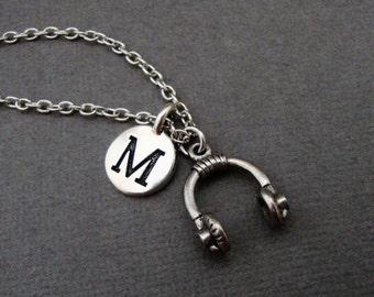 Headphones Necklace, Earphones Necklace, Head Phones Keychain, Ear Phones Bangle Bracelet, Gift for Music Lover, DJ Jewelry, Headset