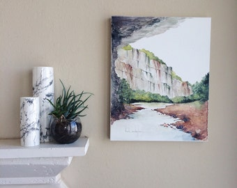 "Original Watercolor Landscape Painting - 16"" x 20"""