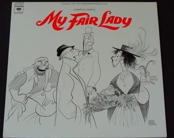 """My Fair Lady Revival - Original Cast - Lerner & Loewe - """"The Rain in Spain"""" - Columbia Masterworks 1976 - Vintage Vinyl LP Record Album"""
