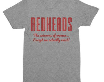 Redheads The Unicorns Of Women Except We Actually Exist T-Shirt, Tank Top, Baseball Tee, Sweatshirt, Hoodie