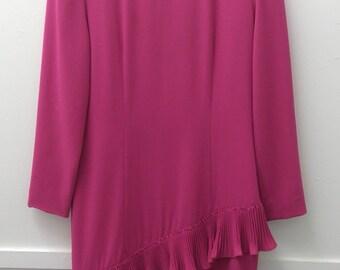 Vintage Size 12 Pink Cocktail Dress