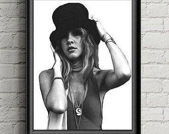 Stevie Nicks Poster  Sale Music Celebrity Art Print, Fleetwood Mac Fan Gift - 1970s Music Gift- 70 Music Poster Print- Gypsy Decor