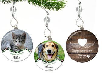 Pet Memorial Ornament- Pet Memorial Christmas Ornament- Pet Photo Ornament- Dog Memorial Ornament- Cat Memorial Ornament- Bird Memorial
