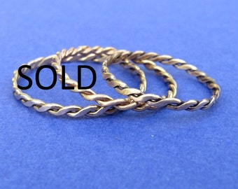 14 kt gold twisted wire ring  size 6.25 or higher ONLY One