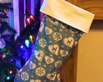 Custom stocking, Christmas stocking, santa stocking