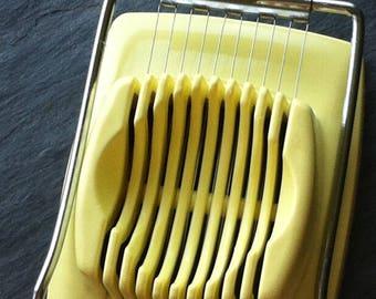 Vintage/Retro EKCO Egg Slicer ~ Yellow Nylon~ Stainless Steel Cutter