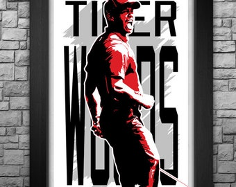 "TIGER WOODS 11x17"" art print"
