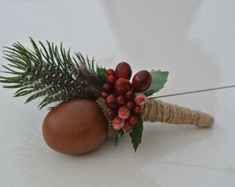 Winter woodland buttonhole