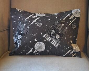 Travel Pillow Case / Child Pillow Case of STAR TREK / Captain Kirk / Spock / Enterprise