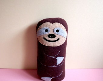 Sloth Plush Toy, MINI Sloth Plush Pillow, BROWN Sloth, Sloth Baby Cushion, Sloth Nursery Decor, Housewarming Gift, Nursery Toy, Sloth Doll