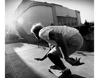 80s Skate Photo - Natas Kaupas Landing - Eighties Skateboarding Photograph 18 x 24 Inch Print - J Grant Brittain Skateboarding Photo