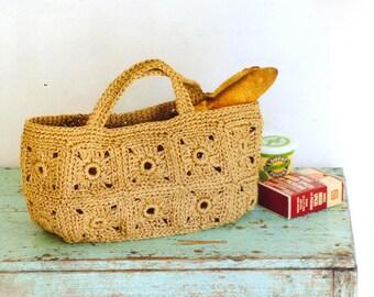 PDF download crochet summer straw raffia tote bag pattern