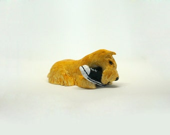 "Wheaten Scottish terrier figurine ""Me and my favorite shoe"""