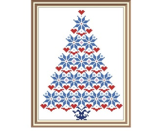 "Cross stitch pattern ""Christmas Tree"",Instant download PDF"