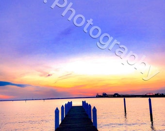 Hemingways Bay Bridge Sunset 16x20 wrapped canvas (larger and smaller sizes available)