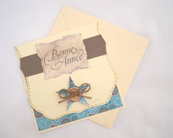 Card Pocket gifts - blue snowflakes