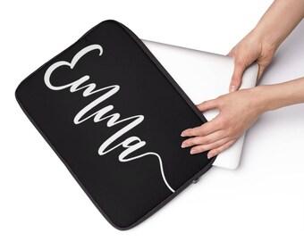 Custom name laptop sleeve, personalized laptop sleeve, laptop sleeve with name