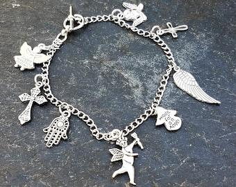 Stainless Steel Simple Charm Bracelets