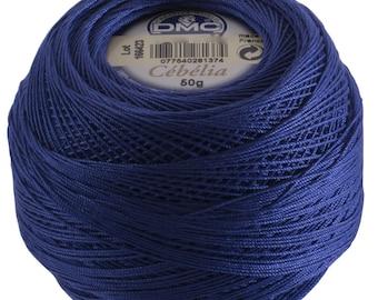 DMC Cebelia Size 10 100% Cotton Crochet Thread - 284 Yards - Color 797 Royal Blue