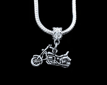 Motorcycle Necklace Motorcycle charm Necklace Biker Jewelry Bikers maul Necklace