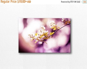 ON SALE floral canvas wrap flower photography canvas 12x12 24x36 fine art photography botanical canvas print large nature photography plum w